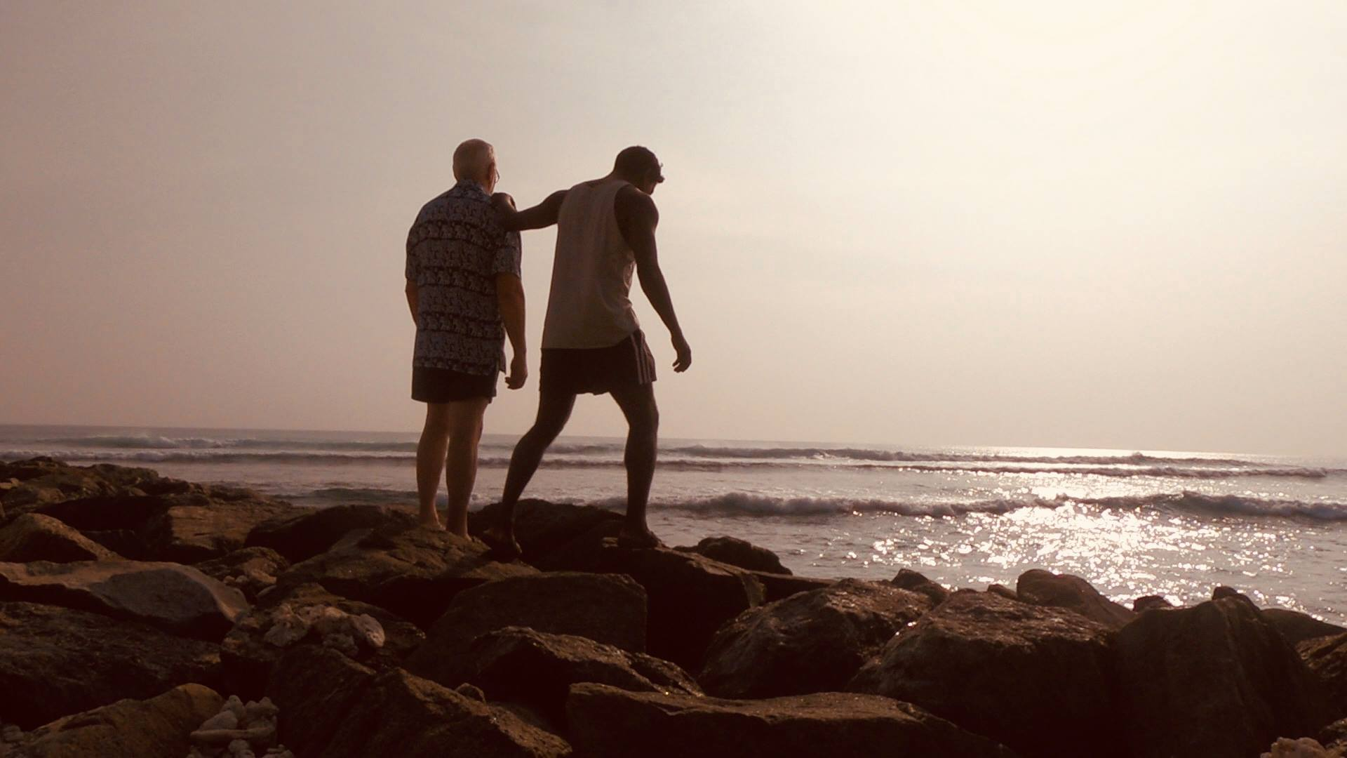 Kenny Svensson and his father in Sri Lanka.