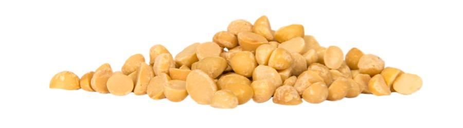 Macadamianöten är goda rostade eller som de är.