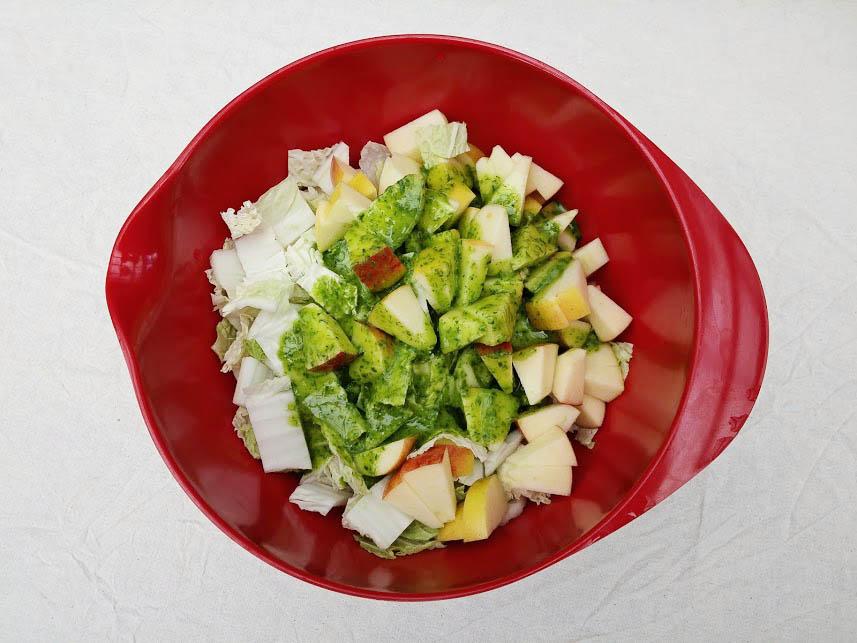 uncannily good pecan salad prep