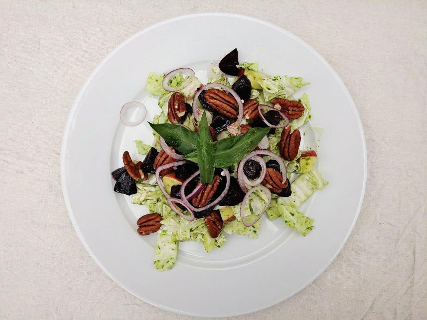 uncannily good pecan salad