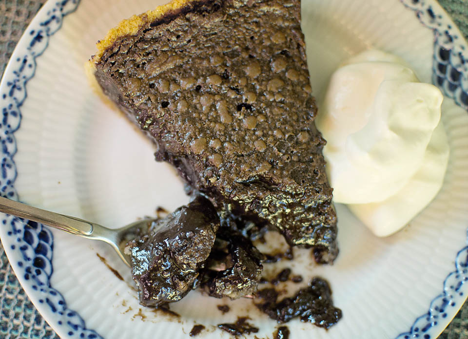 The BEST Gooey Chocolate Coconut Pie